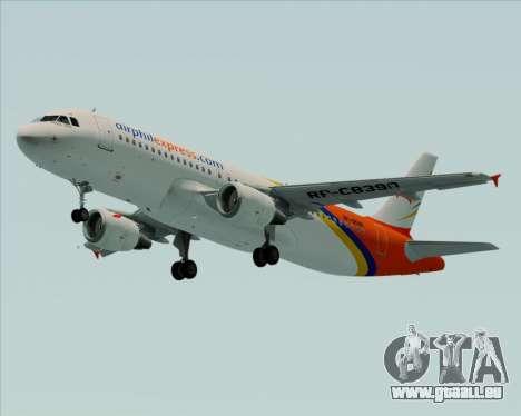 Airbus A320-200 Airphil Express pour GTA San Andreas laissé vue