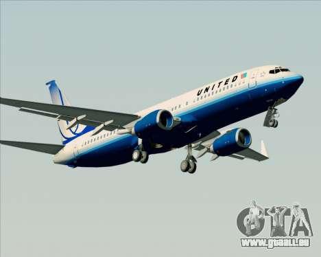 Boeing 737-800 United Airlines für GTA San Andreas Innenansicht