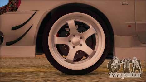 Nissan Skyline R34 GTR V-Spec 2 für GTA San Andreas zurück linke Ansicht