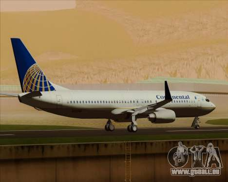 Boeing 737-800 Continental Airlines für GTA San Andreas obere Ansicht