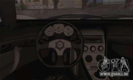 Saleen S7 Twin Turbo für GTA San Andreas zurück linke Ansicht