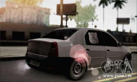 Dacia Logan 2009 pour GTA San Andreas laissé vue
