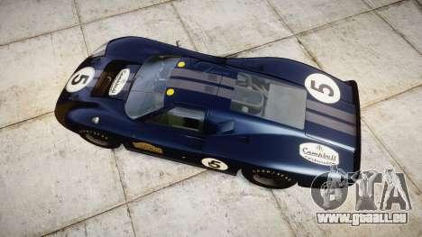 Ford GT40 Mark IV 1967 PJ Campbell 5 für GTA 4 rechte Ansicht