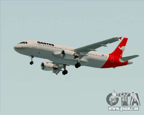 Airbus A320-200 Qantas für GTA San Andreas Räder