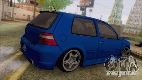 Volkswagen Golf 4 R36 pour GTA San Andreas laissé vue