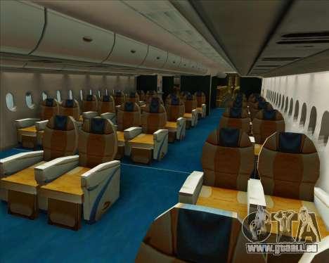 Airbus A380-800 Air Canada pour GTA San Andreas roue