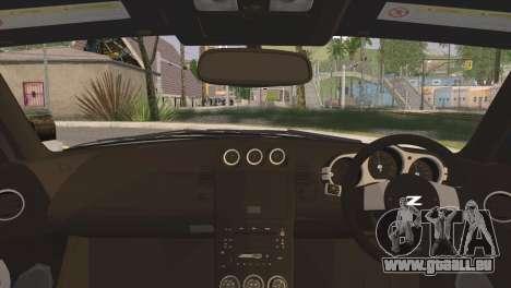 Nissan 350Z CAMBERGANG pour GTA San Andreas sur la vue arrière gauche