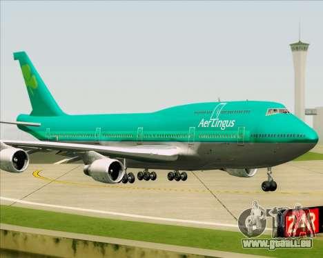 Boeing 747-400 Aer Lingus für GTA San Andreas Rückansicht