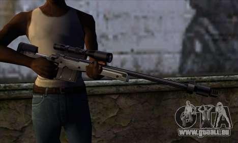 AW50 from Far Cry pour GTA San Andreas troisième écran