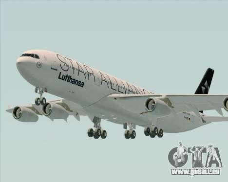Airbus A340-300 Lufthansa (Star Alliance Livery) pour GTA San Andreas vue de côté