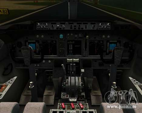 Boeing 737-800 Continental Airlines für GTA San Andreas Innen