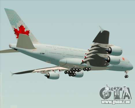 Airbus A380-800 Air Canada pour GTA San Andreas vue de droite