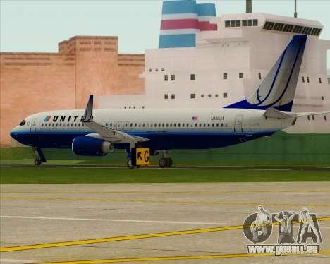 Boeing 737-800 United Airlines für GTA San Andreas rechten Ansicht