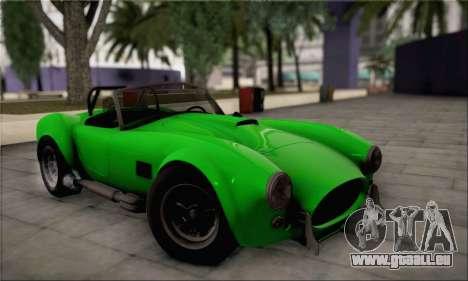 Shelby Cobra V10 TT Black Revel für GTA San Andreas Innenansicht