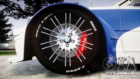BMW M3 E46 GTR Most Wanted plate Liberty City pour GTA 4 Vue arrière