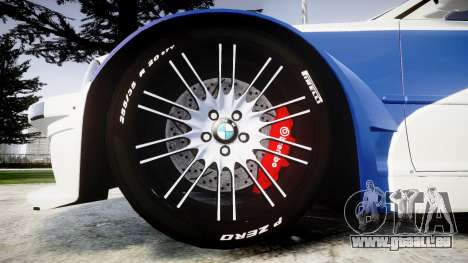 BMW M3 E46 GTR Most Wanted plate NFS für GTA 4 Rückansicht