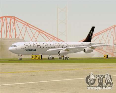Airbus A340-300 Lufthansa (Star Alliance Livery) pour GTA San Andreas laissé vue