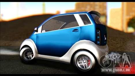 GTA 5 Benefactor Panto pour GTA San Andreas sur la vue arrière gauche