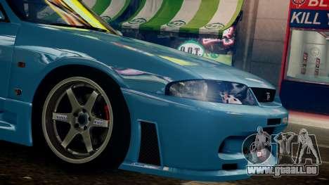 Nissan Skyline BCNR33 JUN VER pour GTA 4 Vue arrière de la gauche