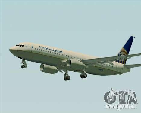 Boeing 737-800 Continental Airlines pour GTA San Andreas laissé vue