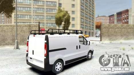 Renault Trafic für GTA 4 hinten links Ansicht