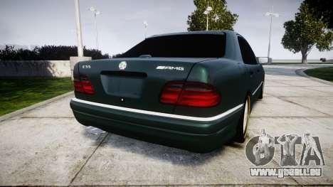 Mercedes-Benz W210 E55 2000 AMG pour GTA 4 Vue arrière de la gauche