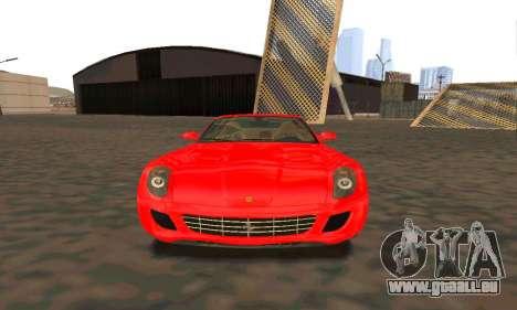 Ferrari 599 Beta v1.1 pour GTA San Andreas