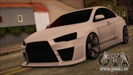 Mitsubishi Lancer Evolution X HD SHDru tuning v1 pour GTA San Andreas