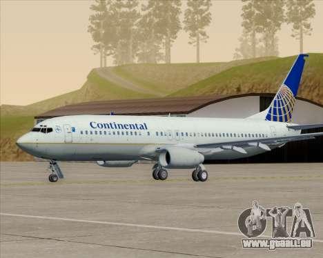 Boeing 737-800 Continental Airlines für GTA San Andreas Räder