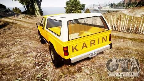 Karin Rebel 4x4 v2.0 retexture pour GTA 4 Vue arrière de la gauche