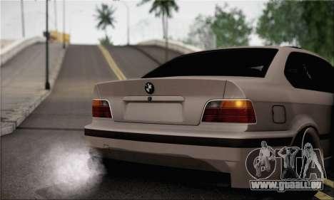 BMW M3 E36 Bosnia Stance pour GTA San Andreas sur la vue arrière gauche