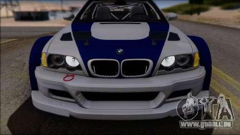 BMW M3 E46 GTR pour GTA San Andreas moteur