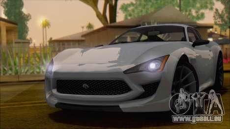 GTA 5 Lampadati Furore GT pour GTA San Andreas sur la vue arrière gauche