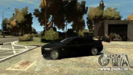 BMW 525 F10 für GTA 4 hinten links Ansicht
