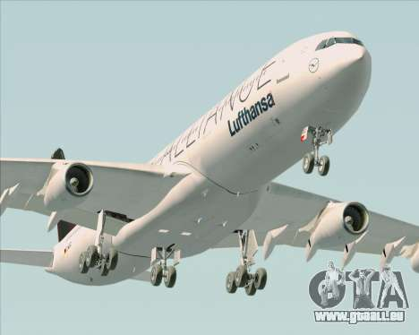 Airbus A340-300 Lufthansa (Star Alliance Livery) pour GTA San Andreas moteur