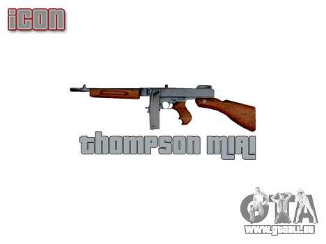 Pistolet mitrailleur Thompson M1A1 tambour icon3 pour GTA 4 troisième écran