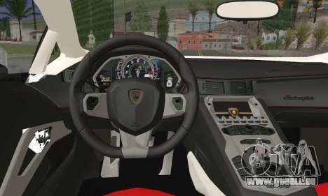 Lamborghini Huracan pour GTA San Andreas sur la vue arrière gauche
