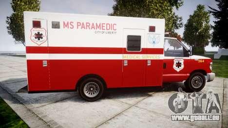 Brute V-240 Ambulance [ELS] für GTA 4 linke Ansicht