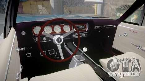 Pontiac GTO 1965 Flames pour GTA 4 Vue arrière