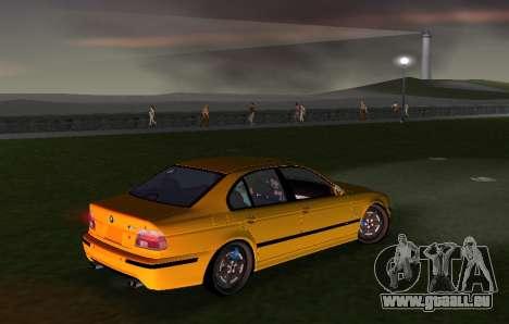 BMW M5 E39 pour GTA Vice City vue arrière