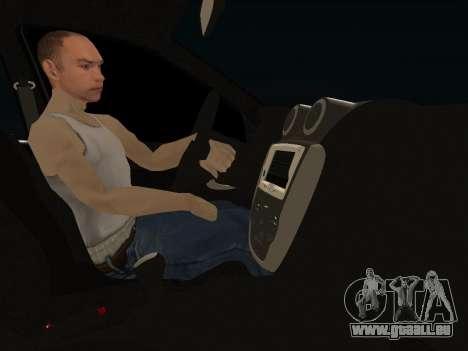 Lada Granta Kalina 2 pour GTA San Andreas vue intérieure