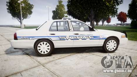 Ford Crown Victoria [ELS] Liberty County Sheriff für GTA 4 linke Ansicht