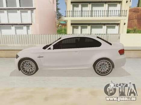 BMW 1M 2011 pour GTA San Andreas vue arrière
