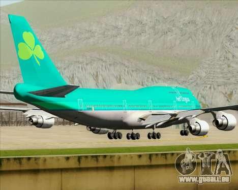 Boeing 747-400 Aer Lingus für GTA San Andreas Seitenansicht