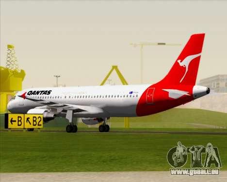 Airbus A320-200 Qantas für GTA San Andreas obere Ansicht