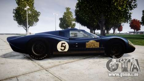Ford GT40 Mark IV 1967 PJ Campbell 5 für GTA 4 linke Ansicht