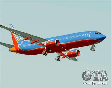 Boeing 737-800 Southwest Airlines für GTA San Andreas obere Ansicht