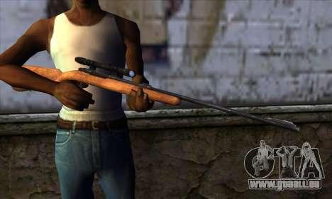 Sniper Rifle from The Walking Dead pour GTA San Andreas troisième écran