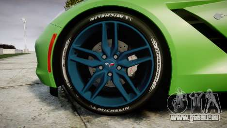 Chevrolet Corvette C7 Stingray 2014 v2.0 TireMi1 für GTA 4 Rückansicht