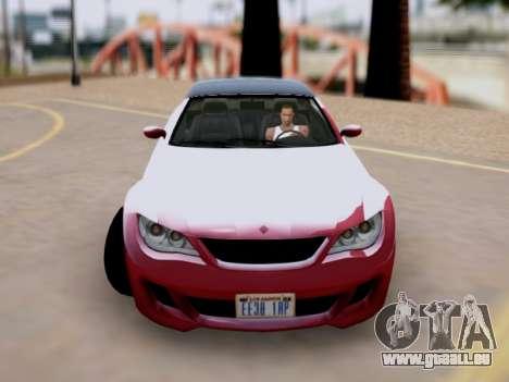 La supériorité de Sion convertibles GTA V pour GTA San Andreas sur la vue arrière gauche